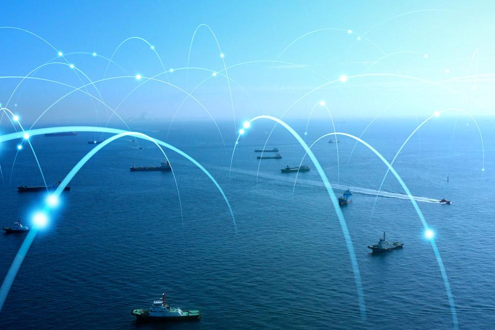 visual connections between ships at see