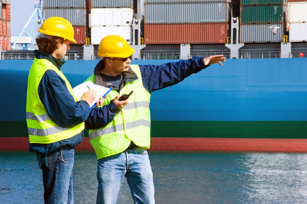 workers at a port