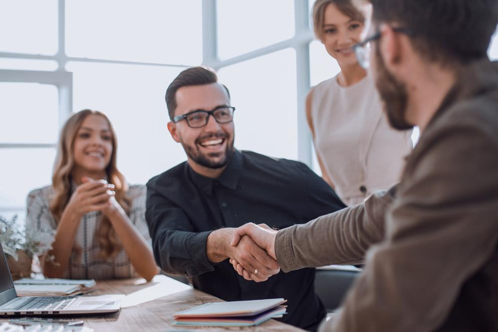 Handshake after interview